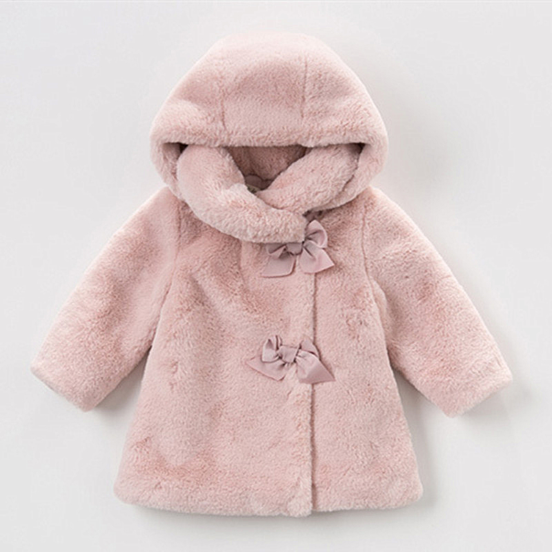 Baby Girls Winter Coat Kids Clothes Rabbit Fur For Jackets Warm Parka Clothing Costume 1-6T