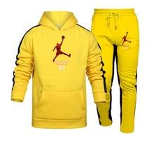 Casual sportswear men's new hot sale brand 2-piece hooded sweatshirt autumn and winter men's pullover hoodie pants suit men S-3X