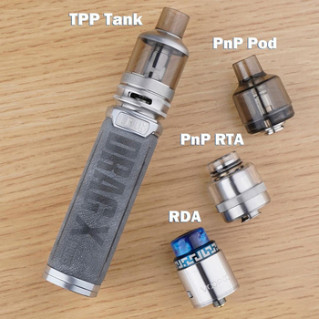 Voopoo – Kit de dosettes DRAG X Plus Original, avec Mod de dosette 100W, réservoir de 5.5ml en TPP et Support de batterie 21700 /18650, pour cigarette électronique