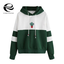 Autumn Women Long Sleeve Pullover Hooded Cactus Printed Sweatshirt Casual Winter Hoody Hoodies Sweatshirt Plus Size Kpop Bangtan(China)