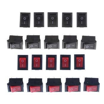 Nowy 10 sztuk partia przełączniki Rocker 2 Pin 10x15mm SPST ON OFF Terminal lutowniczy łódź Rocker przełącznik wciskany 3A AC 250V przełączniki tanie i dobre opinie HUXUAN CN (pochodzenie) Rocker Switch Z tworzywa sztucznego other Kołysko-