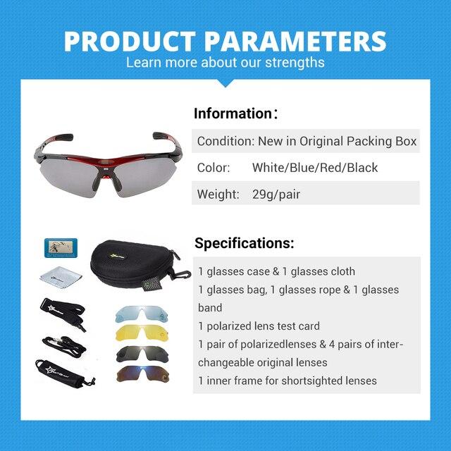 Hot! Rockbros polarizado ciclismo óculos de sol ciclismo ao ar livre esporte da bicicleta estrada mtb tr90 óculos de proteção masculino 5 lente 3
