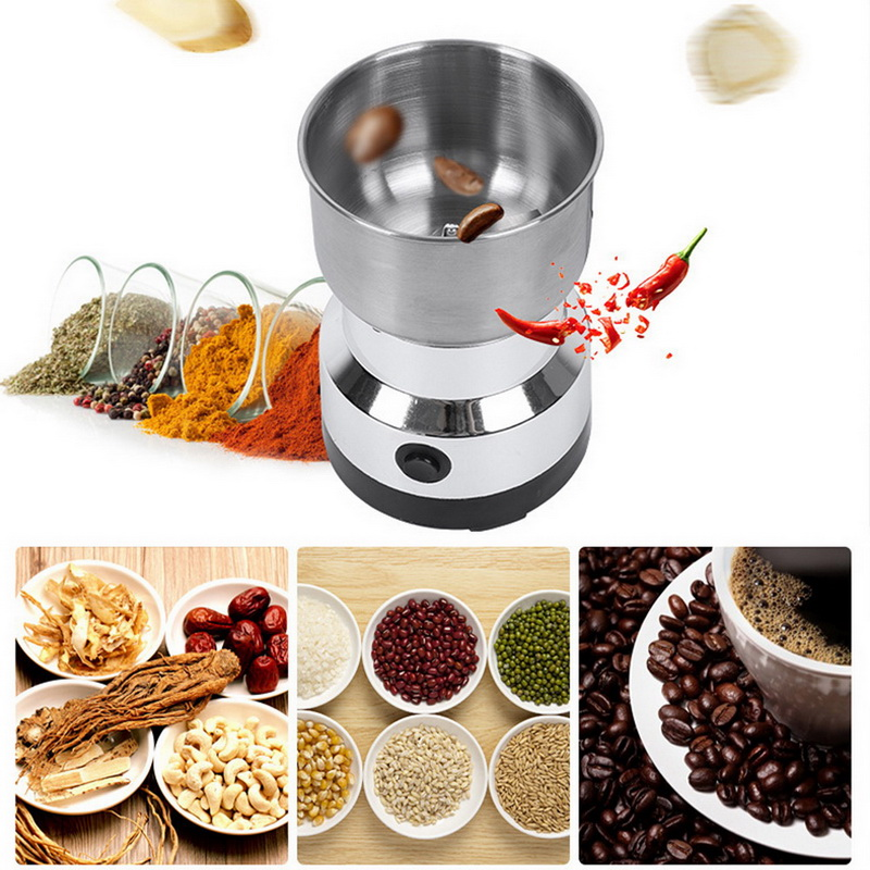 Coffee Grinder Electric Mini Coffee Bean Nut Grinder Coffee Beans Multifunctional Home Coffe Machine Kitchen Tool EU Plug #25