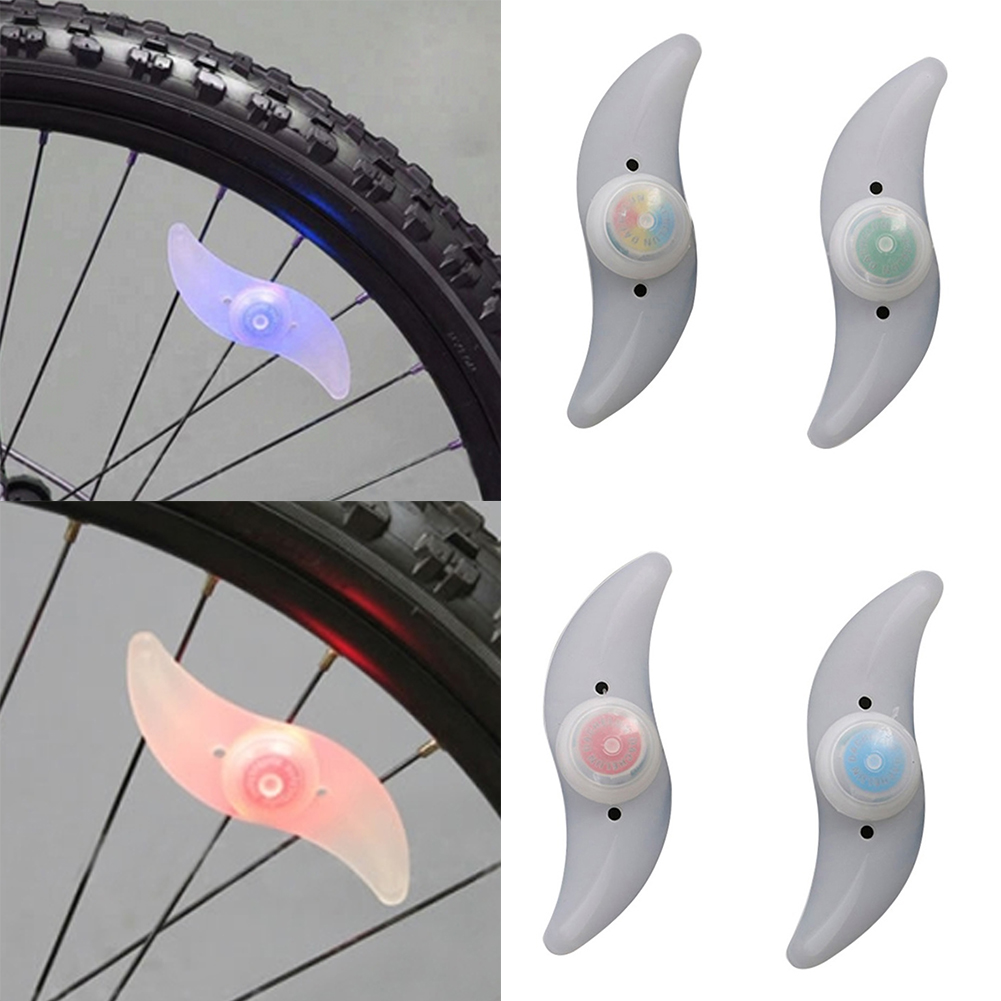 1 Pcs Bike Bicycle Fancy Flashing LED Cycling Wheel Wire Tyre Bright Tire Spoke Lamp Light Green