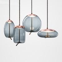 Nordic BROKIS Glass Pendant Lights Modern Led Kitchen Hanging Lamps for Living Room Bar Loft Industiral Lamp Home Decor Lustre