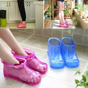 Image 5 - 1 par de pé banho massagem botas relaxamento tornozelo embeber banho terapia massageador sapatos acupoint sola portátil casa pés cuidados ferramentas