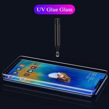 Nano líquido cola completa capa de vidro temperado para huawei companheiro 20pro 20pro protetor de tela para mate20 pro protetora fim vidro
