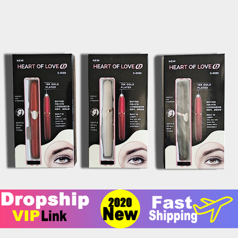 [Dropship Link] New Design Electric Eyebrow Trimmer Makeup Painless Eye Brow Epilator Mini Shaver Razors Facial Hair Remover