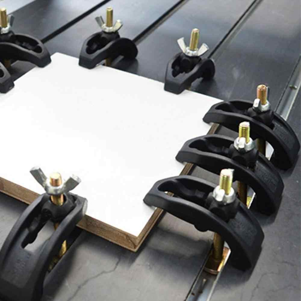 5 unids/set juego de placas de arco CNC piezas de máquina de grabado Placa de presión accesorio de abrazadera para t-slot mesa de trabajo