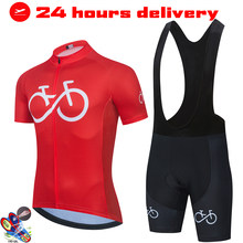 Men Short Sleeve Jersey Set MTB Cycling Clothing Ropa Ciclismo Summer Road Bike Clothes lady Team Triathlon Uniform Breathable