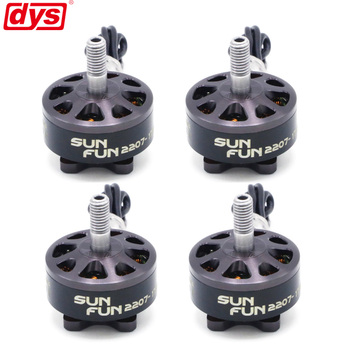 4PCS/LOT DYS SUN FUN 2207 1750KV 2450KV 2750KV CW Thread FPV Racing Brushless Motor For RC Drone Quadcopter Spare Parts brotherhobby returner r3 2207 2400kv fpv racing brushless motor engine for fpv racer rc drone quadcopter frame spare parts accs