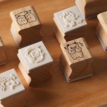 4 шт./компл. Винтаж Животные Serise декоративная печать деревянный пазл игрушка головоломка для Скрапбукинг канцелярские штампы Стандартный штамп ремесла Сделай Сам D5V6