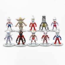 6/10pcs Japan Anime Monsters Ultraman Figure 10cm Ultraman Geed Zoffy Taro Eleking Jack Tiga Orb Geed Belial  Capsule Toys 38cm ultraman orb sacred sword and spear dart which emits light and sounds is a children s like ultraman toy