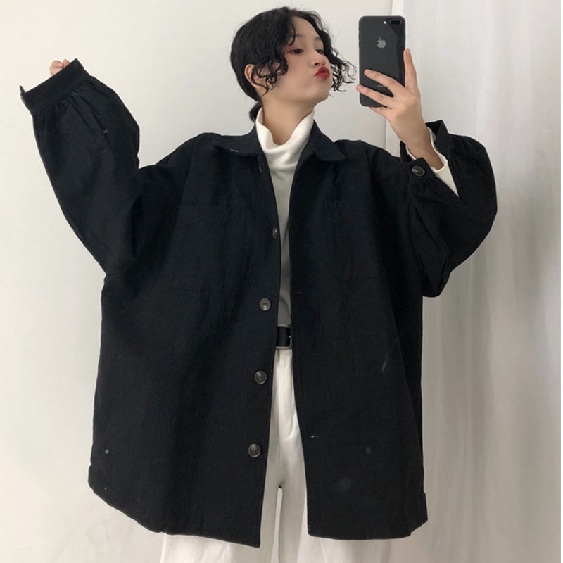 Loose Bf Oversize Loose Coat Female Schoolgirl Denim Autumn Jacket Women Chaqueta Mujer Plus Size Gothic Streetwear Boyfriend