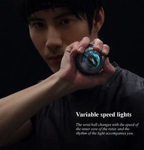 Image 5 - From xiaomi Youpin YunMai Powerball Carpal Training Apparatus Power Wrist Trainer LED Gyro Ball Essential Spinner Antistress Toy