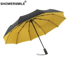 SHOWERSMILE Windproof Mens Umbrella 10 Ribs Double Layer Fully Automatic For Men Waterproof Business Folding