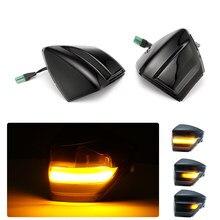 LED dynamiczny korzystając z łączy z boku kierunkowskaz w lusterku światło dla Ford S-Max 2007-2014 C-Max 2011-2019 Kuga C394 2008-2012 Reaview lampki lustrzane 2021