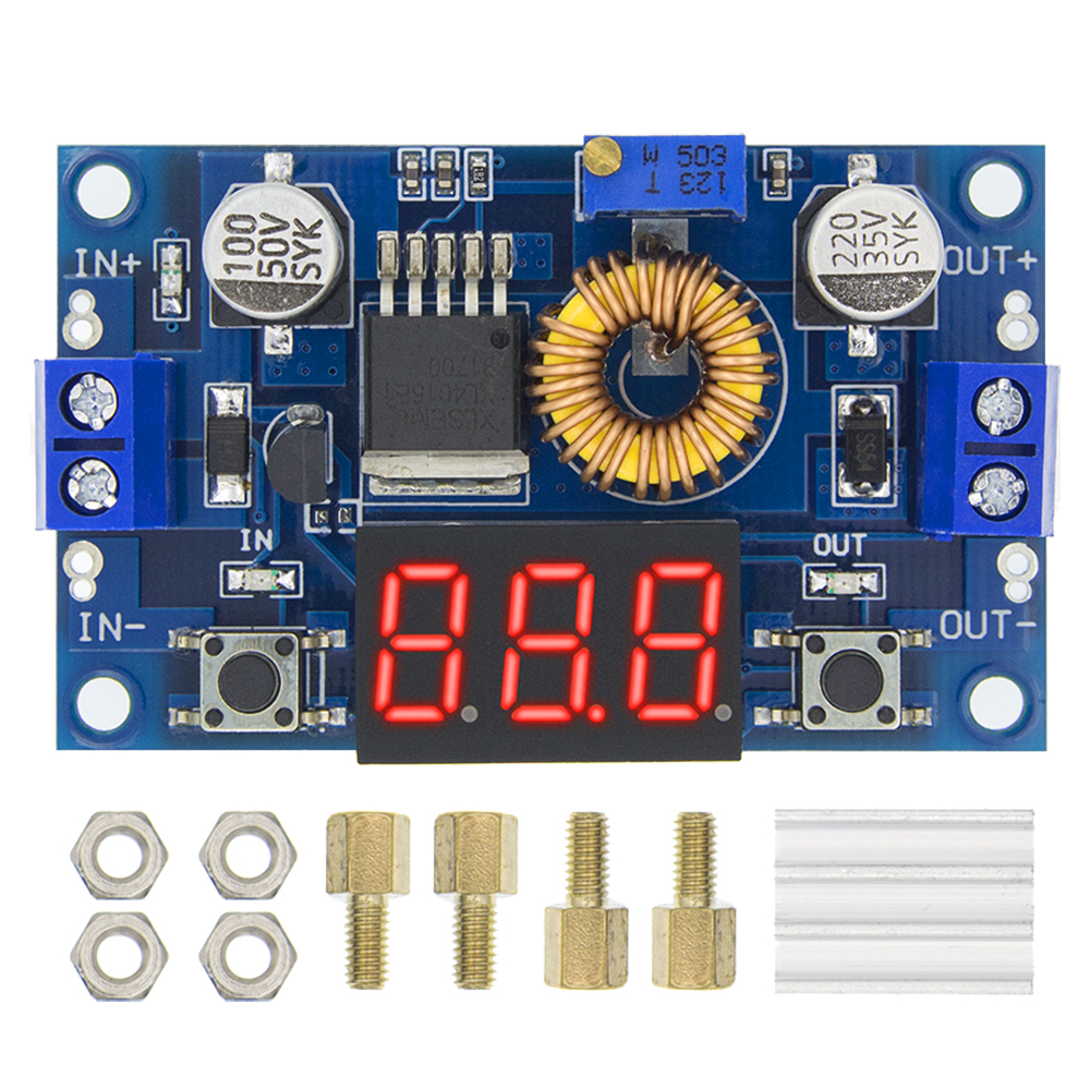 Step-Down-Module XL4015 10PCS Voltmeter Adjustable DC-DC H32 LED High-Power 5A 75W