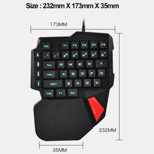 Mechanical Keyboard One Single Hand With Backlit F