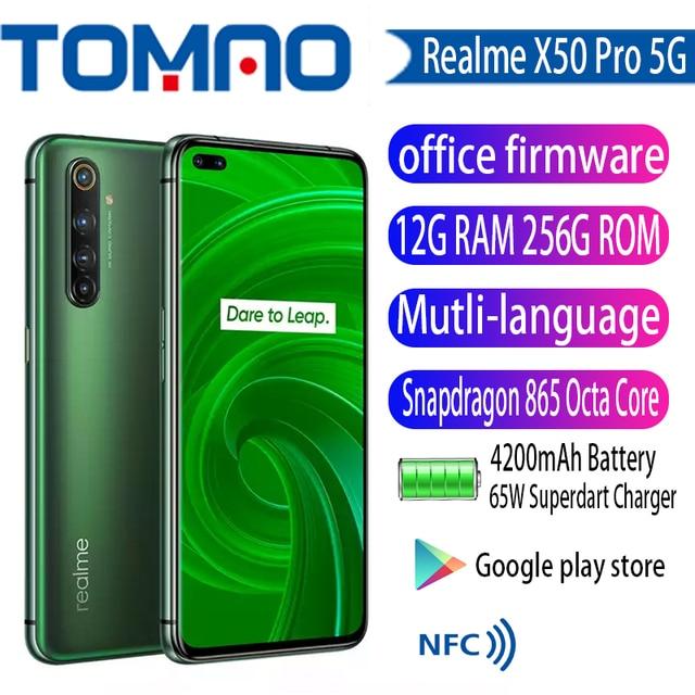 Original New Realme X50 Pro 5G SmartPhone Snapdragon 865 12GB RAM 256GB ROM 90Hz SuperAmoled Screen 65W Fast Charger googleplay 2