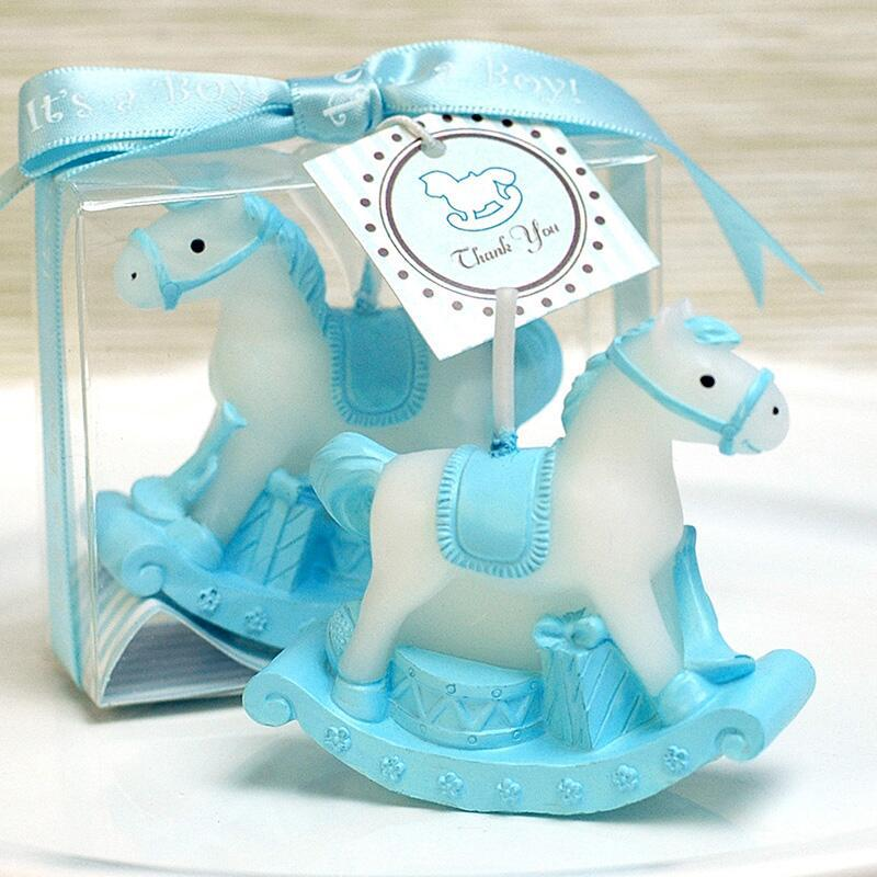 10PCS Rocking Horse Candle Favors for Baby Shower Kids Birthday Gifts Baptism Keepsake Event Anniversary Favours