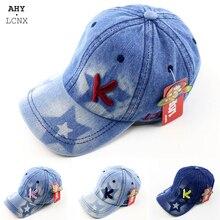 Girl Hat Baseball-Caps Letters Kids Snapback Toddler Autumn Korean Baby Denim Embroidery