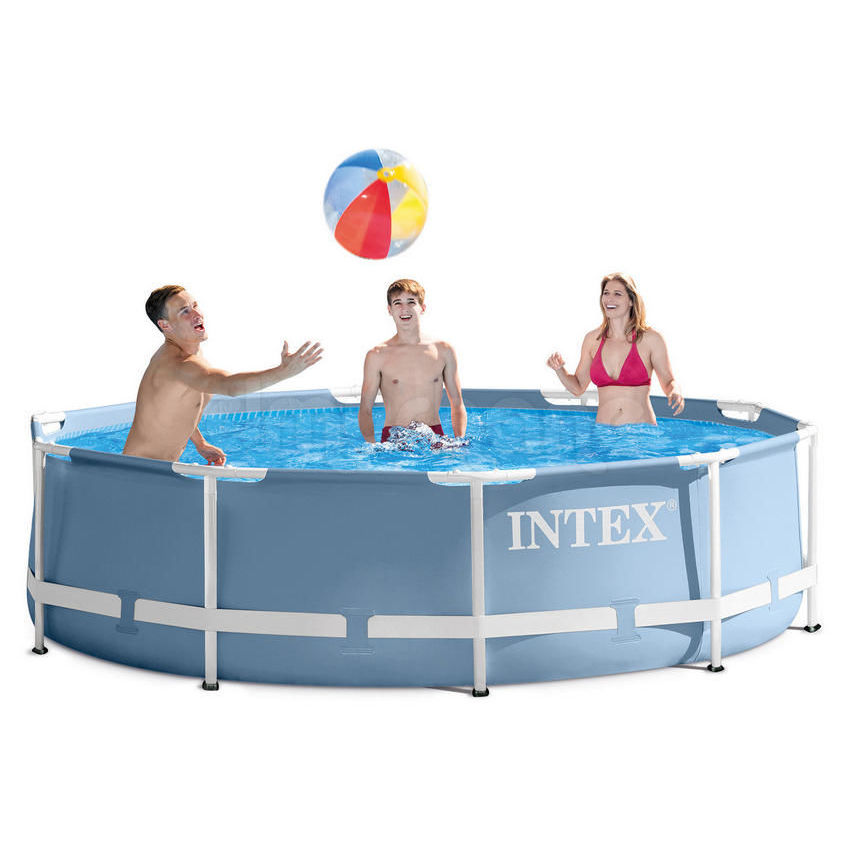 Scaffold Round Swimming Pool Outdoor Summer 305x76 Cm, 4485 L, Intex Prism Frame, From 6 Years, Item No. 28700
