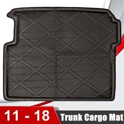Z pianki EVA pojazd samochodowy tylny Trunk Boot Mat Liner podłogi Cargo tacy czarny tylny bagażnik samochodu Liner akcesoria dla BMW f25 X3 2011 2018 na