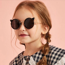 2019 new fashion Cat Cartoon kids sunglasses UV400 baby boys&girls Unisex cute glasses