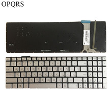 Laptop Keyboard Backlit Russian ASUS FOR G58/G58jm/G58jw/.. Silver New