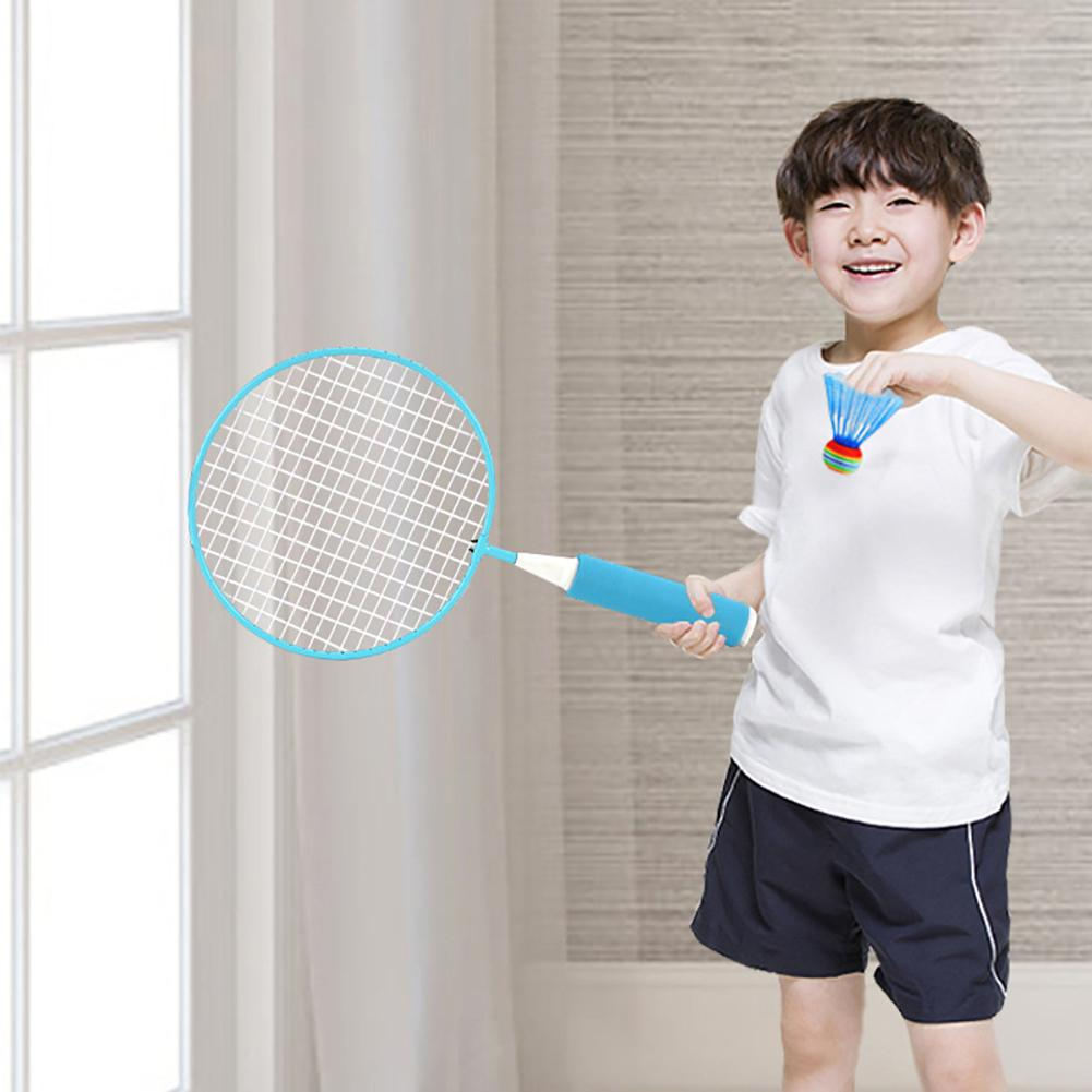 2pcs Outdoor Sports Racket Training Pats Paternity Children Badminton Racket Set Indoor/Outdoor Entertainment Sport Game Toy