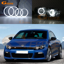 For Volkswagen VW Scirocco 2008 2009 2010 2011 2012 2013 Excellent angel eyes Ultrabright illumination CCFL Angel Eyes kit for volkswagen vw scirocco 2008 2009 2010 2012 2013 halogen headlight excellent multi color ultra bright rgb led angel eyes kit