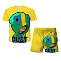 Clothing Sets Top+shorts 2pcs Suits Stars Leon Crow Tshirt Kids 3D Print Browl Costume T Shirt Short Sleeve Cartoon Browls
