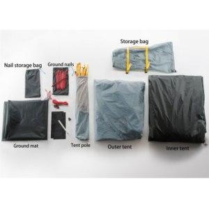 Image 4 - 3f ul gear 3 인 3/4 시즌 15d 캠핑 텐트 대형 방수 야외 초경량 하이킹 배낭 사냥 텐트