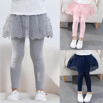2020 bawełna dziewczynek legginsy koronkowa spódniczka księżniczki spodnie wiosna jesień dzieci szczupła spódnica spodnie dla 2-7 lat dzieci ubrania tanie i dobre opinie Sonkpuel Rajstopy CN (pochodzenie) COTTON Dobrze pasuje do rozmiaru wybierz swój normalny rozmiar Stałe Dziewczyny LJH200804B
