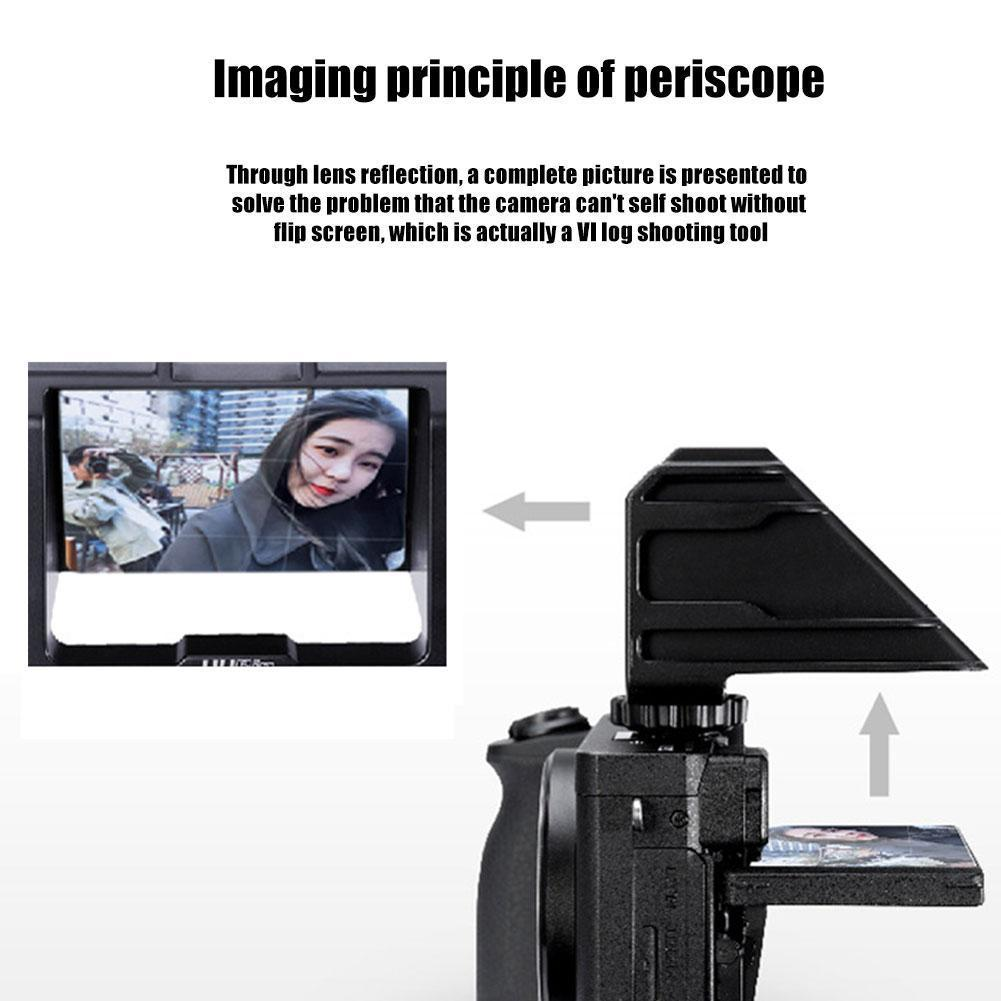 UURig R031 Camera Vlog Selfie Flip Screen Bracket For Mirrorless A7 A6500 A73 A6000 Camera A72 A6300 Periscope Solution For N8S0