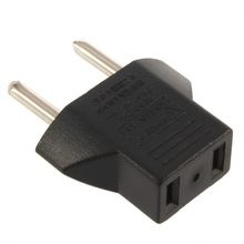 Universal EU Adapter Plug 2 Flat Pin To EU 2 Round Pin Plug Socket Power Charger Travel Necessity Household Use(China)