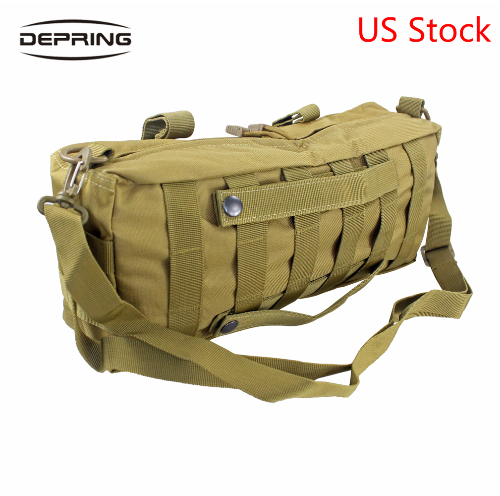 Tactical Large Capacity Waist Pack Molle Pouch Multi-Purpose Bag Shoulder Bag Pack For Camping Hiking Hunting Accessories