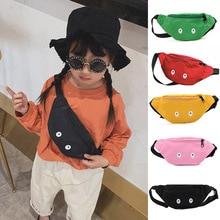 Детская поясная сумка, нагрудная Сумочка с милыми глазами для мальчиков и девочек, регулируемая Забавная детская сумка на ремне, Модный Дор...