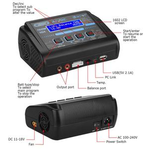 Image 5 - HTRC C150 RC Charger AC/DC 150W 10A Discharger for LiPo LiHV LiFe Lilon NiCd NiMh Pb Battery Lipo Charger & Explosion Proof Bag