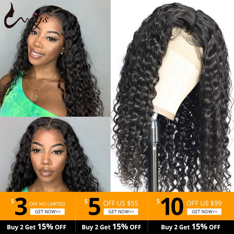 Lace Closure Wigs Frontal Wigs Peruvian Human Hair Deep Wave Closure Wigs Pre Plucked With Baby Hair Uwigs