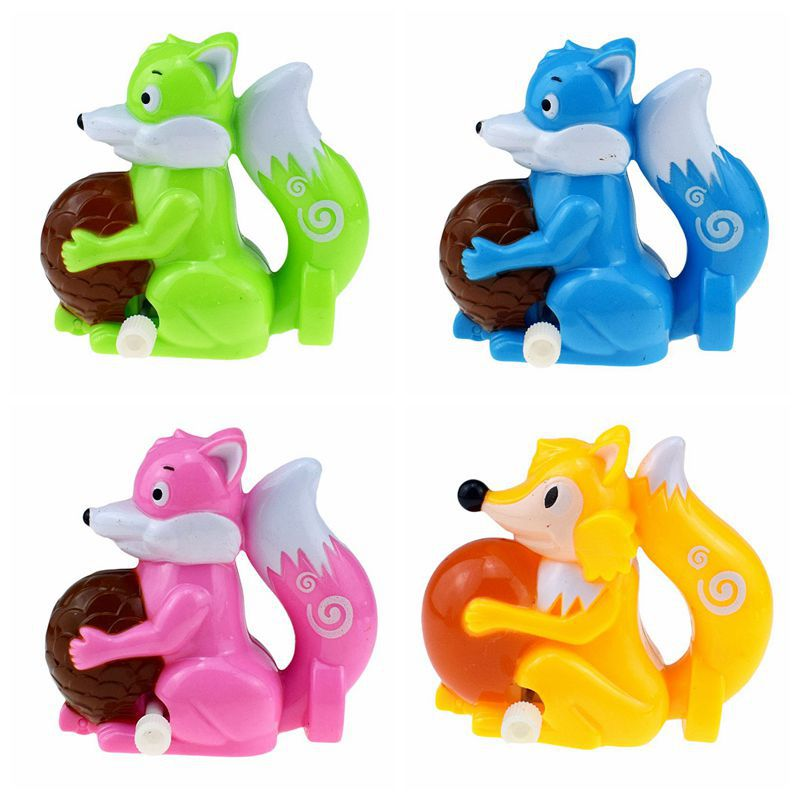 Novelty Funny Cute Spring-Winding Winding Fox Squirrel Animal Small Gifts Toy Supply Of Goods