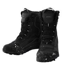 Новые уличные лыжные ботинки мужские Зимние флисовые теплые ботинки для сноубординга водонепроницаемые Нескользящие лыжные ботинки средней длины Лыжная Экипировка для мужчин t