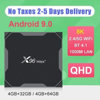 X96 Max Plus TV Box Android 9.0 4G 64GB 32GB Amlogic S905X3 Quad Core FULL HD 2.4/5G WIFI 8K Media Player Smart TV BOX X96 MAX h96 max x2 voice smart tv box android 9 0 amlogic s905x2 lpddr4 quad core 4gb 32gb 64gb 2 4g