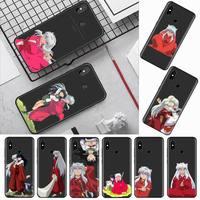 Inuyasha anime love custodia per cellulare simpatico cartone animato per Xiaomi Redmi mi note max 3 5 6 8 9 10 t S SE lite pro borse per cellulare in Silicone morbido