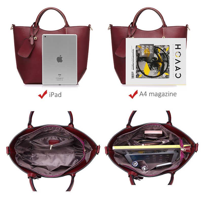ريالر حقيبة يد المرأة دلو كبير الكتف حقيبة كروسبودي الإناث الجلود الاصطناعية السيدات حقائب رسول علوي-حقائب بيد لينة