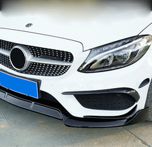 Front fog light strip For mercedes w205 amg Mercedes c class accessories W205 carbon fiber exterior decoration