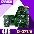 X551CA материнская плата REV2.2 I3-3217u 4 ГБ для ASUS X551CAP X551CA F551C материнская плата для ноутбука X551CA материнская плата X551CA материнская плата