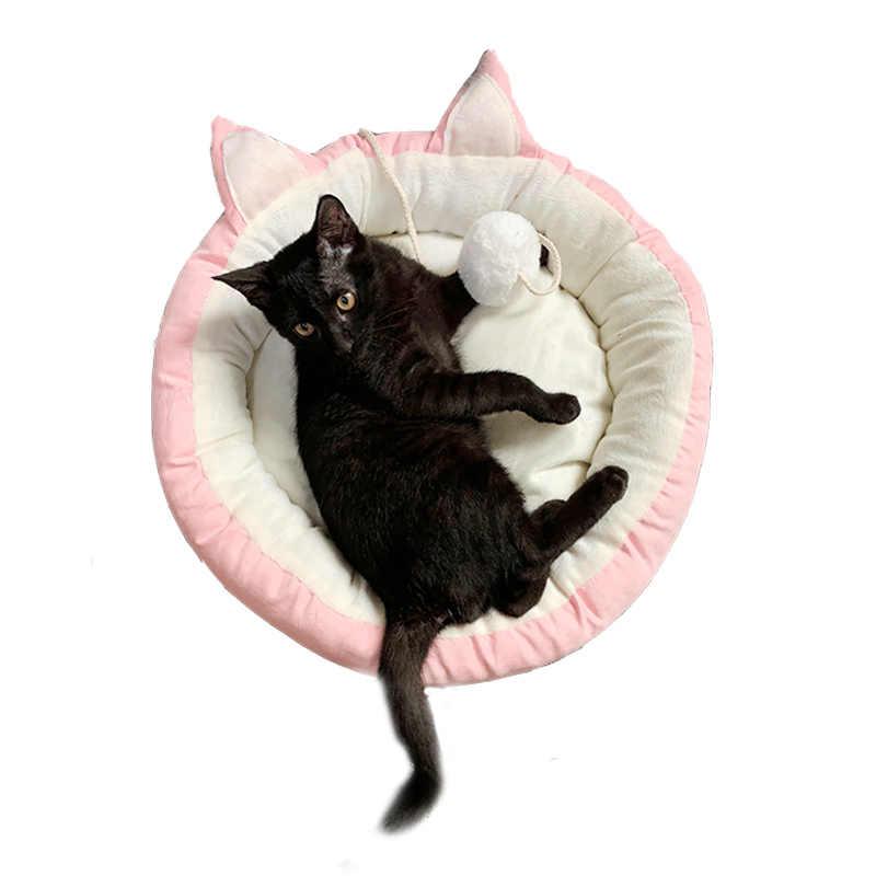 Warm Pet Cat Bed บ้านบอลฤดูหนาว Sleeping Nest Kitten Kennel เบาะสุนัข Rest เตียงโซฟาแมวบ้านอุปกรณ์สำหรับสัตว์เลี้ยง