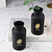 Ваза винтажная модная ваза стеклянная черная стеклянная ваза ручная красивая гостиная спальня простое семейное украшение